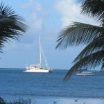 Anchored out in Christiansted harbour