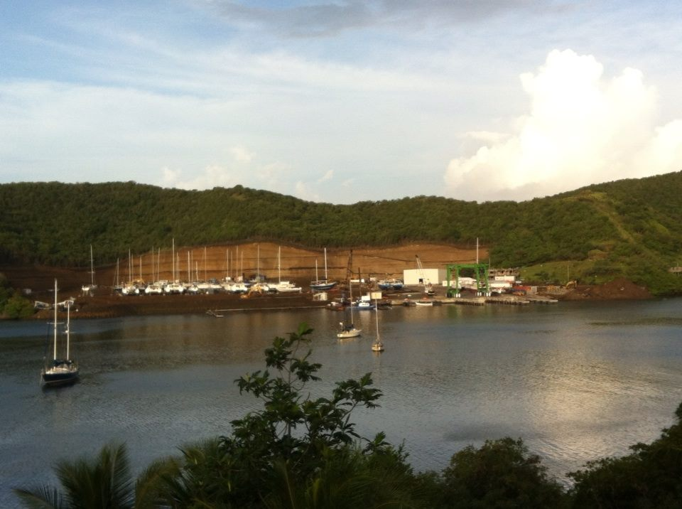 The new Clark's Court Bay marina & boatyard