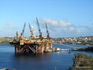 Pipe Laying platform at CaracasBaai