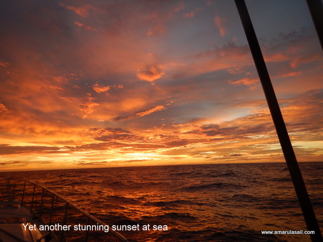 Yet another stunning sunset at sea